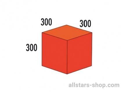 Bänfer Softbaustein Quader rot/orange 300x300x300mm Schaumstoff-Baustein
