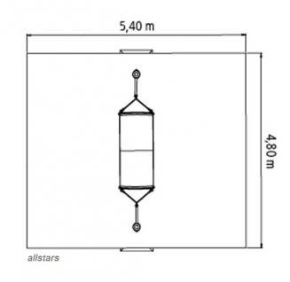 Huck Gurt-Hängematte + 2 Pfosten Stahlpfosten Matte PVC-Beschichtung verstellbar - Vorschau 3