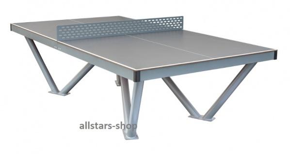 Tischtennisplatte Tischtennistisch Outdoor auch für Rollstuhlfahrer für draußen vandalismussicher Beckmann