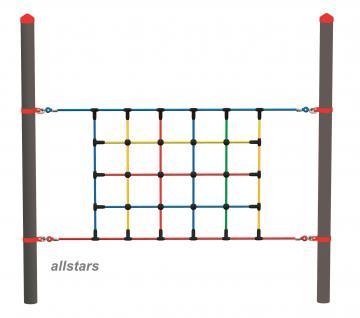Huck Vario-Systen Element 2 Kletternetz Parcours f. Stahlpfosten Spielplatzanlage
