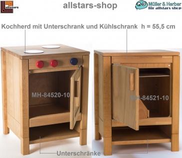 Allstars Kinderküche Puppen-Koch-Herd mit Backofen und Puppen-Kühlschrank H = 55, 5 cm