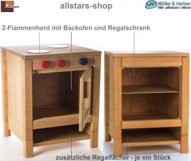 Allstars Kinderküche Herd mit Backofen und Regal-Unterschrank + Zusatzfach H = 55, 5 cm