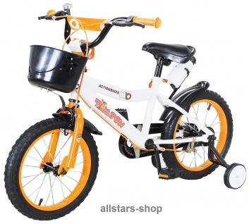 Kinderfahrrad 16 Zoll Hello Timson gelb Fahrrad ActionBikes Miweba