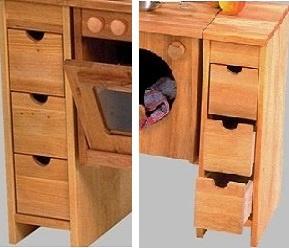 Schöllner Kinderküche Spielküche Star Maxi aus Holz mit Herdplatten Waschmaschine Backofen Schrank + Spüle für Kindergarten - Vorschau 5