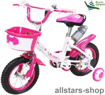 Kinderfahrrad 12 Zoll Hello Daisy pink Fahrrad ActionBikes Miweba