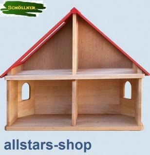 Schöllner Puppenhaus Spielhaus Kinderspielhaus Puppenstube 1 Etage mit Dach für Kindergarten