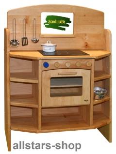Schöllner Kinderküche Pantry-Küche CULINA Küchenblock Erlenholz aus dem Kinder-Möbel Sortiment für Kindergarten