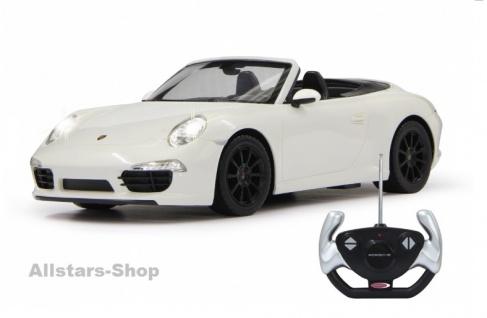Porsche 911 Carrera S 1:12 weiss mit 40MHz Fernbedienung von Jamara