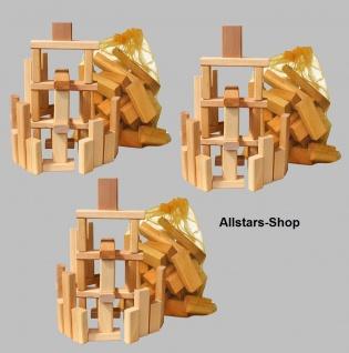 Schöllner Bauklötze Holzbauklötze Bausteine aus Holz 3 Sack 90 Steine für Kindergarten