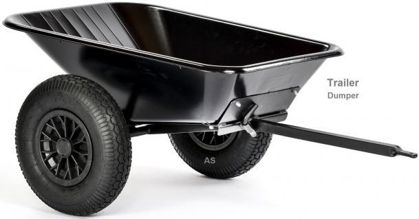 DinoCars Dumper Anhänger Trailer Kipper Basisanhänger Dump schwarz