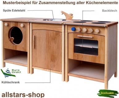 Schöllner Kinderküche Ofen Vario mit 4 Herdplatten für Spielküche Erlenholz Pantry für Kindergarten - Vorschau 4