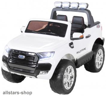 Actionbikes Kinderauto Ford Ranger Kinder-E-Auto 2-Sitzer 2 Kinder silber