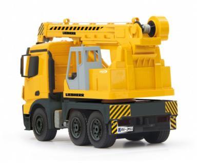 Jamara RC Auto Schwerlastkran Mercedes Liebherr 1:20 Baufahrzeug 2, 4GHz gelb Funk - Vorschau 3