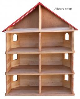 Schöllner Puppenhaus Spielhaus Kinderspielhaus Puppenstube 3 Etagen mit Dach für Kindergarten