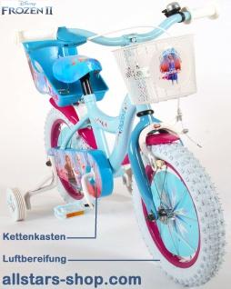 """Allstars Dino Wheels Bikes Disney Frozen Kinderfahrrad Mädchenfahrrad 14 """" mit Rücktrittbremse blau-lila - Vorschau 3"""