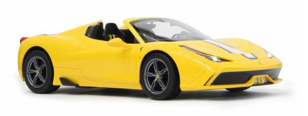 Jamara RC Auto Ferrari 458 Speciale A 1:14 gelb Verdeck 40 MHz Funk