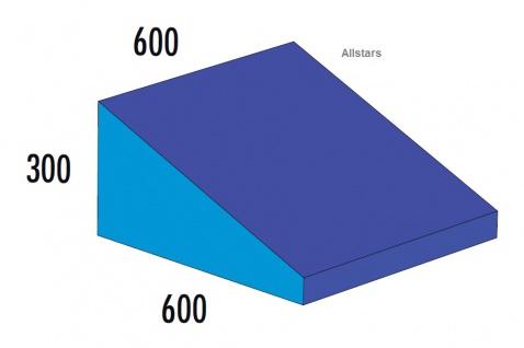 Bänfer Softbaustein Keil blau 600 x 600 x 300/60 Maxi Schaumstoff-Baustein Großbaustein
