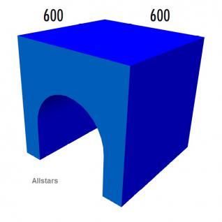 Bänfer Softbaustein Tunnel-Rutsche blau 60 x 60 x 60 Maxi Schaumstoff-Baustein
