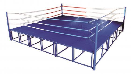 Sport Boxring Box-Hochring 6, 5 m Fitness Hochring Boxen Breitensport Bänfer - Vorschau 3