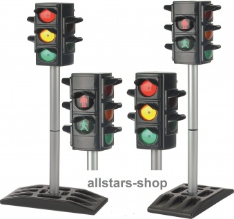 allstars Verkehrsampel Verkehrsampeln 2 Stück elektrische Ampel für Kindergarten