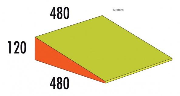 Bänfer Softbaustein Keil 480 x 480x 120 mm Medi Schaumstoff-Bausteine Großbaustein