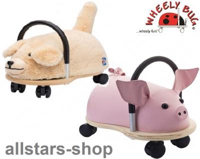 Wheely Bug Rutscher Ferkel Piggi und Hund Bello Kleinkindrutscher klein 360 Grad rundum allstars