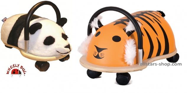 Wheely Bug Rutscher Panda und Tiger Kleinkindrutscher klein 360 Grad rundum allstars