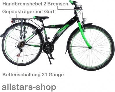 """Allstars Dino Wheels Bikes Thombike Kinderfahrrad Jungenfahrrad 26 """" mit 21-Gang-Ketten-Schaltung grün - Vorschau 3"""