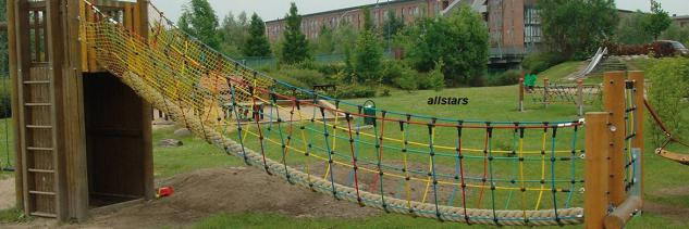 Huck Dschungelbrücke Netzbrücke Herkulesseil Kletterbrücke Spielplatz - Vorschau 5