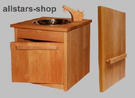 Schöllner Spüle Spültisch für Kinderküche Spielküche Star aus Holz mit Unterschrank + Verbindungsbretter für Kindergarten