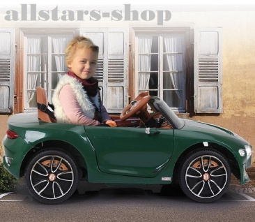 Jamara Kinderauto Elektroauto Ride On Car Bentley EXP12 dunkelgrün Cabriolet Kids - Vorschau 3