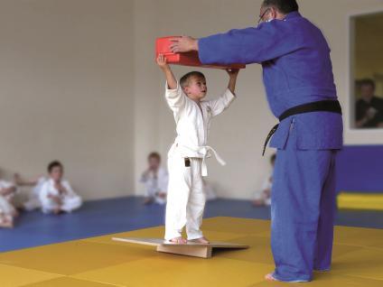 Turnen BUDO Schauklbrett Balancebrett Kampfsport Judo Breitensport Sport Bänfer Trainingsmodul