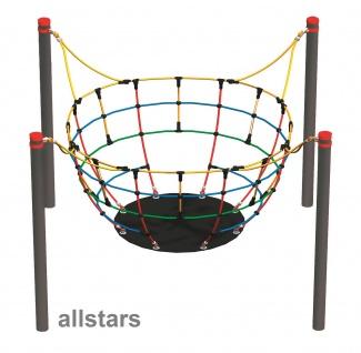 HUCK Vario-Element 14 Kletterkugel für Robinie-Pfosten Kletternetz öffentlicher Spielplatz
