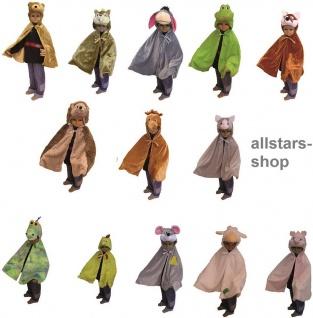 Allstars Kostüme-Set Kinder-Kostüm 13 x Tierkostüme für Kindergarten Faschingskostüm