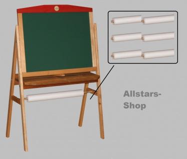 Schöllner Holzspielzeug Zeichenpapier-Rollen 6 Stück für Kinder-Tafeln z. B. im Kindergarten