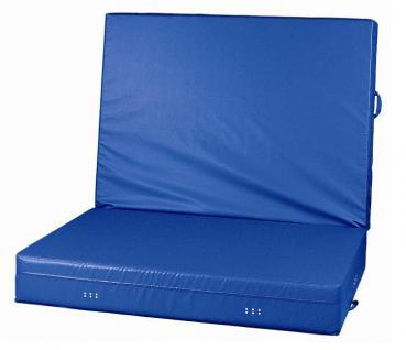 Bänfer WEBO-Weichboden klappbar Blau 2 x 1, 5 m Kern RG 20 Turnmatte - Vorschau 1