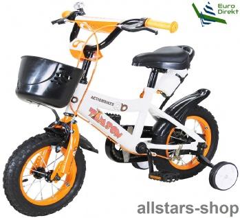 Actionbikes Kinderfahrrad Kinder-Fahrrad - Timson - 12 Zoll orange Bike Mädchen Jungen für Kindergarten