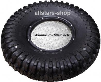 Beckmann Schaukelsitz LKW Schaukelreifen halb mit Bodenplatte Aluminium mit Ketten Edelstahl Reifenschaukel