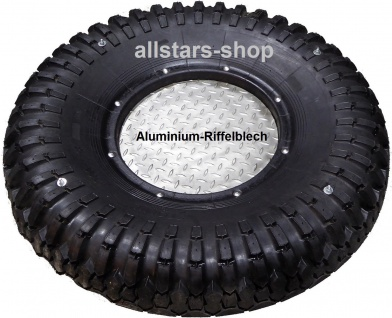 Beckmann Schaukelsitz LKW Schaukelreifen halb mit Bodenplatte Aluminium ohne Ketten Reifenschaukel