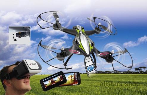 Jamara F1X VR Drohne Altitude FPV Wifi Kompass Flyback Quadrocopter
