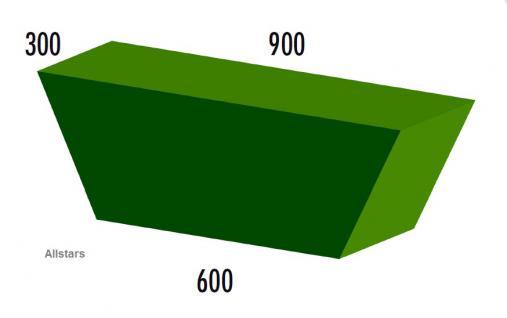 Bänfer Softbaustein Trapezelement 900/600 x 300 x 300 Maxi Schaumstoff-Baustein