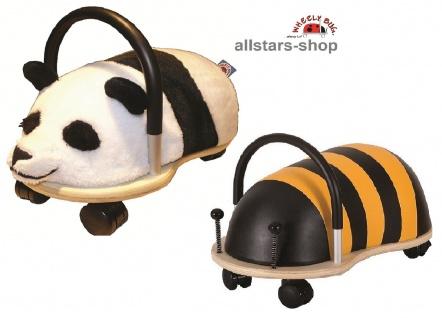 Wheely Bug Rutscher Biene Maja und Pandabär Kung Fu Kleinkindrutscher klein mit 360 Grad Wendekreis allstars