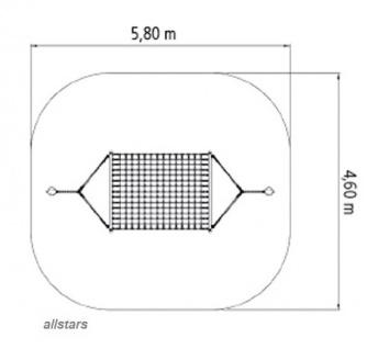 Huck Standpfosten für XXL Ruhe-Hängematte Stahl Pfosten Hängematte - Vorschau 2