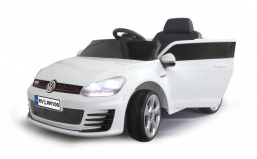 Jamara Ride On VW Golf GTI Kinderauto Elektroauto weiß 2, 4G 6V