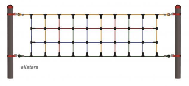 Huck Spielplatzgeräte Seilparcours Seil-Parcours: Modul Element: Kletternetz Netz