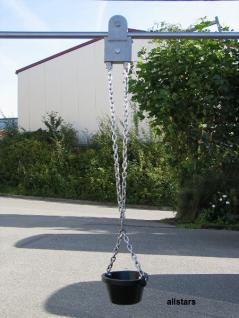 Beckmann Sandaufzug mit 2 m Schiene, Kette und Eimer V2A Laufkatze Spielplatz-Aufzug