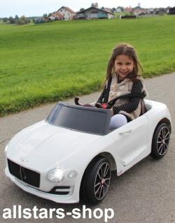 Jamara Kinderauto Elektroauto Ride On Car Bentley EXP12 weiß Cabriolet Kids