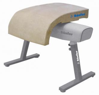 Turngerät Sprungtischaufsatz ST-2 Pauschenpferd Leder Sprungtisch Sport Bänfer