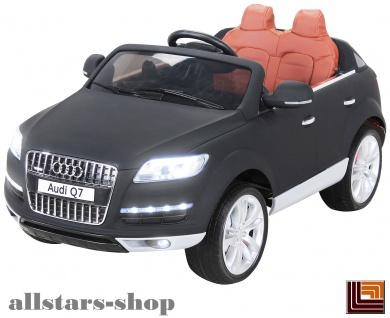 Actionbikes Kinderauto Selbstfahrer Elektro-Auto Audi Q7 SUV Kinder-Elektroauto schwarz lackiert