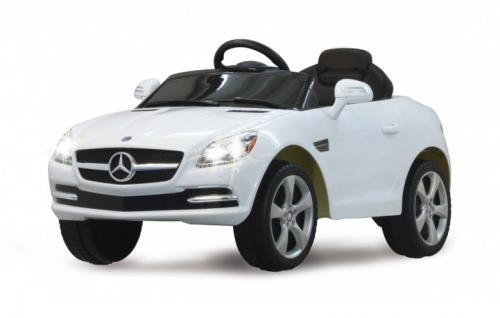 Elektro-Kinderauto Mercedes SLK Class 10 weiß mit RC-Fernbedienung